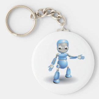 Robot lindo que señala algo llaveros personalizados