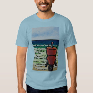 Robot Looking Out To Sea Tee Shirt