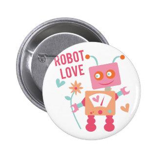 Robot Love 2 Inch Round Button