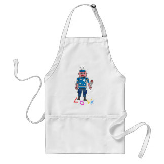Robot love adult apron