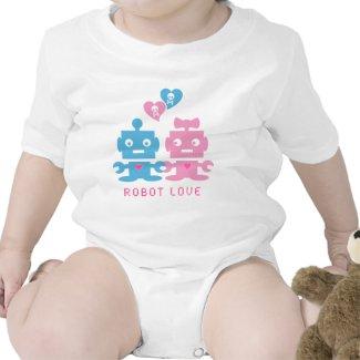 Robot Love Baby Onesie shirt
