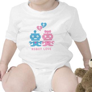 Robot Love Baby Bodysuits