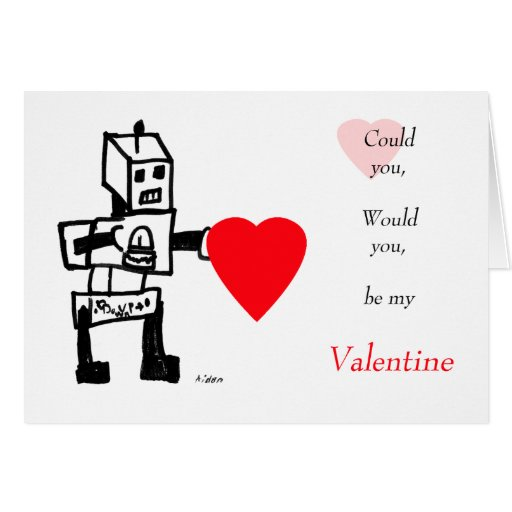 Robot Love, Be Mine Card