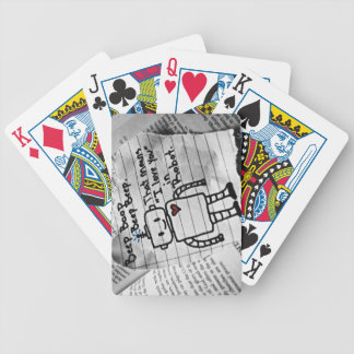 Robot Love Bicycle Playing Cards