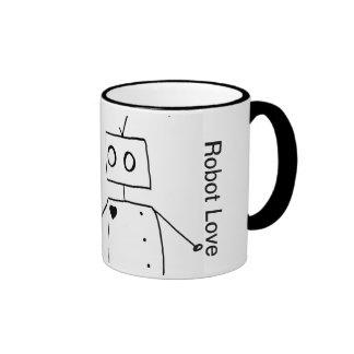 Robot Love by Axel Bean Coffee Mugs