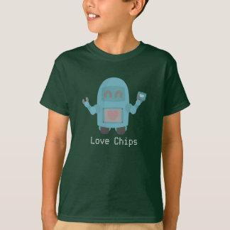 Robot Love Computer Chips T-Shirt