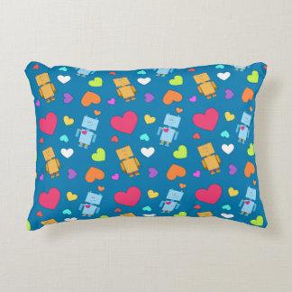 Robot Love Decorative Pillow