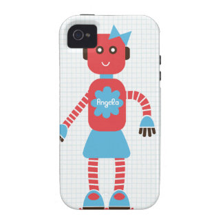 Robot Love (Hers) Case for Couples iPhone 4 Cases