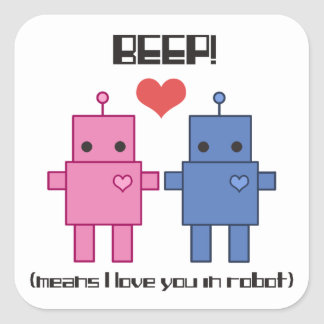 Robot Love Sticker