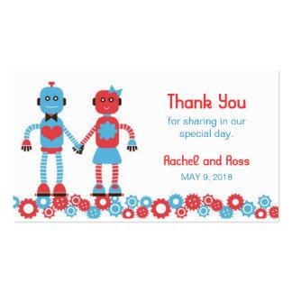 Robot Love v.2 Wedding Favor Tags Business Card