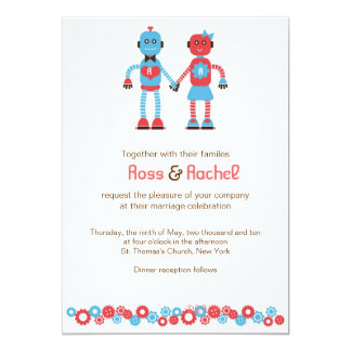 Robot Love Wedding Card