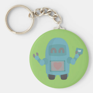 Robot Loves Computer Chips Keychains
