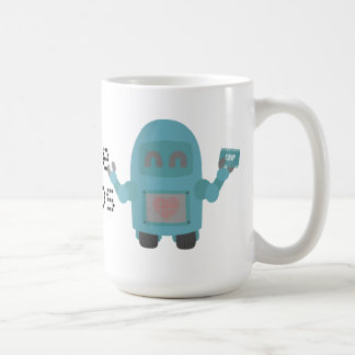 Robot Loves Computer Chips Classic White Coffee Mug