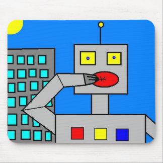 robot madness mouse pad