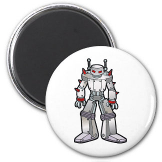 Robot malo con los puntos imán redondo 5 cm