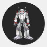 Robot malo con los puntos pegatinas redondas