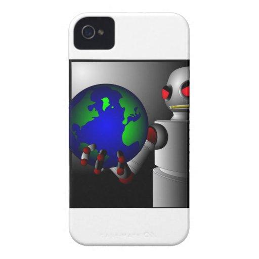 Robot malvado Case-Mate iPhone 4 cárcasas