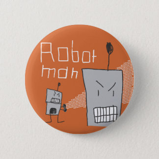 Robot Man Pinback Button