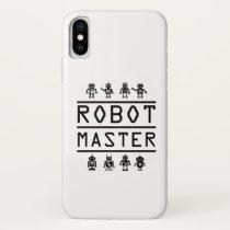 Robot Master Robotics Engineering Program Stream iPhone X Case
