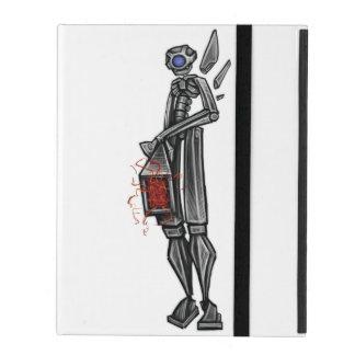 Robot Mech Gunner Geeky Sketch by: Adam McFadyen iPad Cover