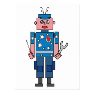 Robot Mechanic Postcard