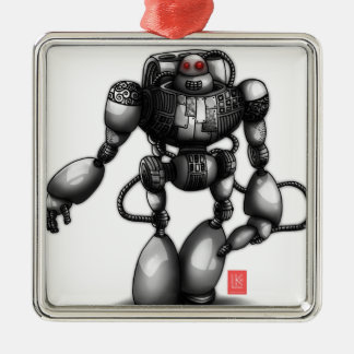 Robot Metal Ornament