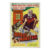 Robot Monster - Vintage Sci-Fi Horror Movie Poster