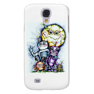 Robot Moon Galaxy S4 Covers