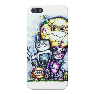 Robot Moon iPhone 5 Cases