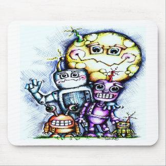 Robot Moon Mousepads