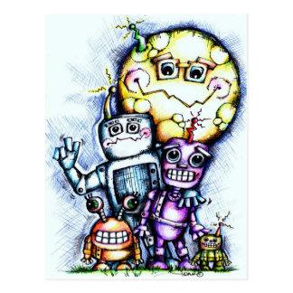 Robot Moon Postcard