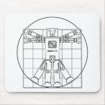 Robot Mousepad de da Vinci Vitruvian Tapetes De Ratones