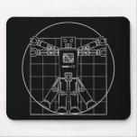 Robot Mousepad de da Vinci Vitruvian Alfombrillas De Raton