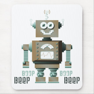 Robot Mousepad (lt) del juguete de la señal sonora Alfombrillas De Ratones