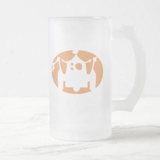 Robot 16 Oz Frosted Glass Beer Mug