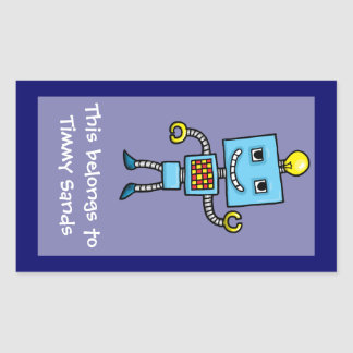 Robot name sticker template
