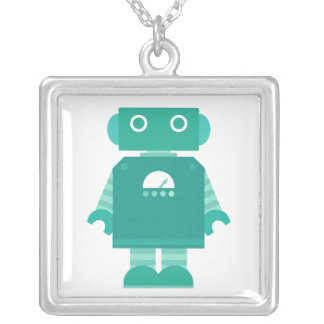 Robot Necklace - Teal