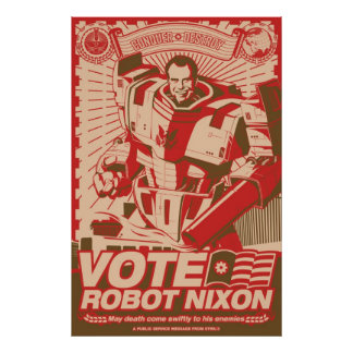 Robot Nixon - todo robot Nixon del saludo Impresiones