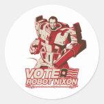 Robot Nixon - todo robot Nixon del saludo Pegatina Redonda
