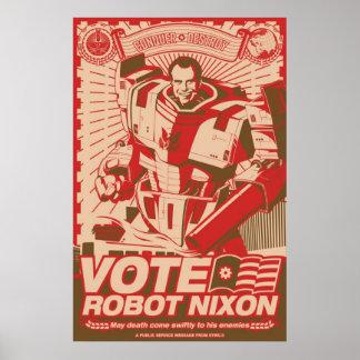 Robot Nixon - todo robot Nixon del saludo Póster