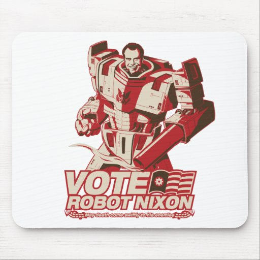Robot Nixon - todo robot Nixon del saludo Tapete De Ratones