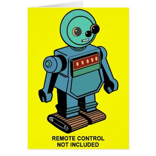 Robot no incluido teledirigido tarjeta de felicitación