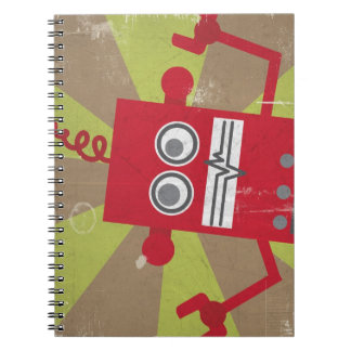 Robot Notebook (in red)
