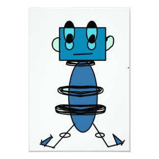 Robot Notecard Invitación 8,9 X 12,7 Cm