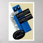 Robot Nueva York romántica WPA 1938 Poster