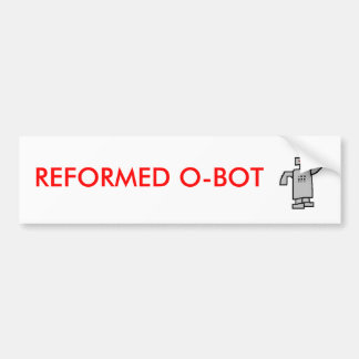 robot, O-BOT REFORMADO Pegatina De Parachoque