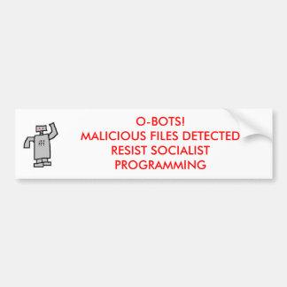 ¡Robot, O-BOTS! FICHEROS MALÉVOLOS DETECTADOS Pegatina De Parachoque