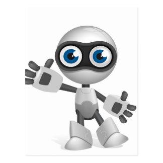 """Robot observado azul "" Postales"