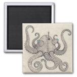 Robot Octopus Refrigerator Magnet