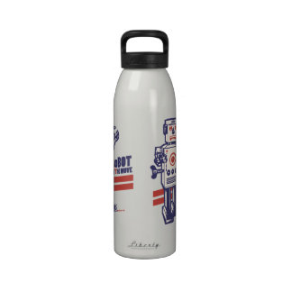 Robot on the Move Reusable Water Bottles